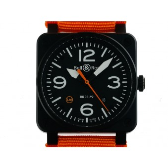 Bell & Ross Aviation BR 03-92 Military Type Keramik Automatik Armband Textil Limitiert 42x42mm
