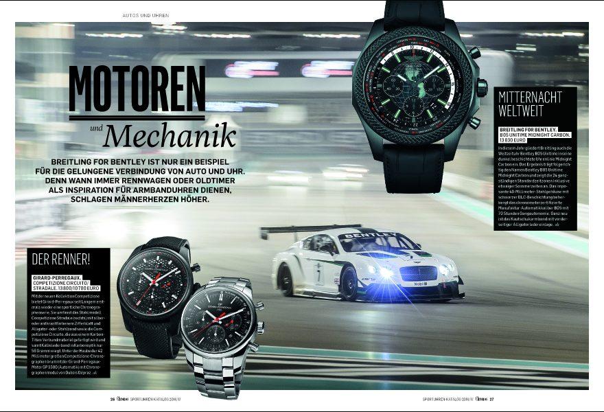 Uhren für den Motorsport im Chronos Sportuhren-Katalog 2016/17