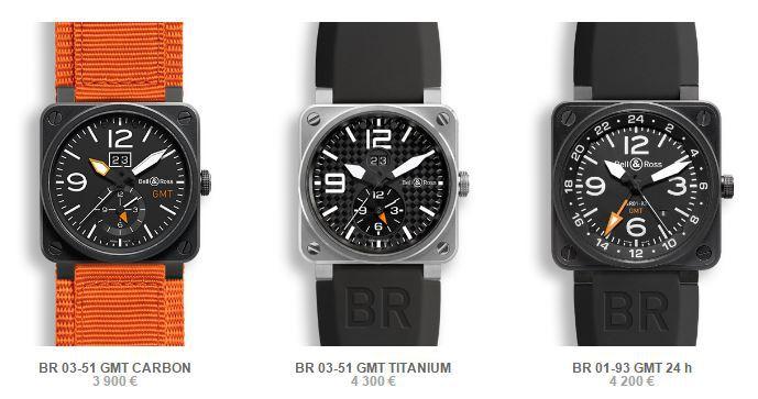 die bisherige BR-03-GMT Kollektion
